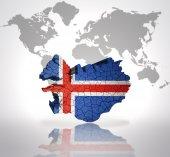Map of  Iceland — Stock Photo