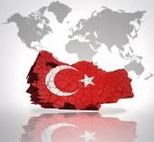 Map of  Turkey — Stock Photo