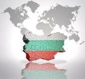 Karta över Bulgarien — Stockfoto