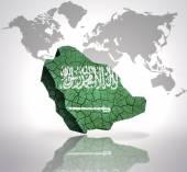 Map of Saudi Arabia — Stock Photo