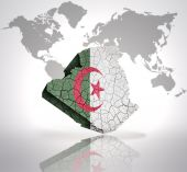 Map of Algeria — Stock Photo