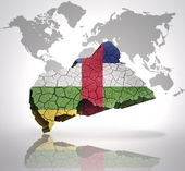 Map of Central African Republic — Stock Photo