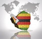 Map of  zimbabwe — Stock Photo
