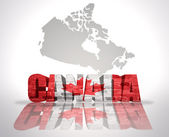 Word Canada on a map background — Stock Photo