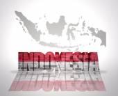 Mots d'Indonésie sur un fond de carte — Photo