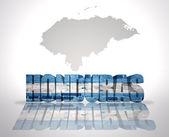 Word Honduras on a map background — Zdjęcie stockowe