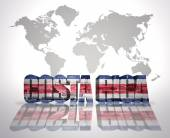 Word Costa Rica on a world map background — Stock Photo