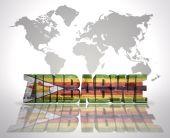 Word Zimbabwe on a world map background — Stock Photo