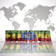 Word Ethiopia on a world map background — Stock Photo #60380637