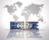 Word Belize on a world map background — Stockfoto