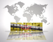 Word Brunei on a world map background — Stock Photo