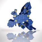 Map of European Union on a white background — Stock Photo #61121945