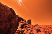 Mysterious terrestrial planet — Stock Photo