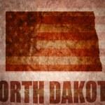 Vintage north dakota map — Stock Photo #64804439