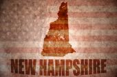 Vintage new hampshire map — Stock Photo