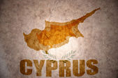 Vintage cyprus map — Stock Photo