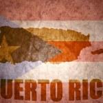 Puerto rico vintage  map  — Stock Photo #66508967