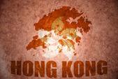 Hong kong vinobraní mapa — Stock fotografie