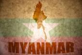 Barmský vinobraní mapa — Stock fotografie