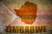 Zimbabwe vintage map  — Stock Photo