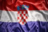 Shining croatian flag — Stock Photo