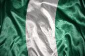 Shining nigerian flag — Stock Photo