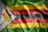 Shining zimbabwean flag — Stock Photo