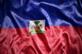 Shining haitian flag — Stock Photo