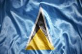 Shining Saint Lucia flag — Stock Photo