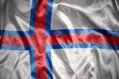 Bandeira das Ilhas Faroé a brilhar — Fotografia Stock