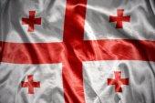 Shining georgian flag — Stock Photo