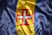 Shining madeira flag — Stock Photo