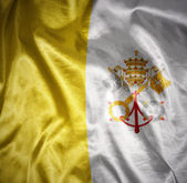 Shining vatican flag — Stock Photo