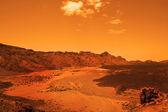 Deserted terrestial planet — Stock Photo