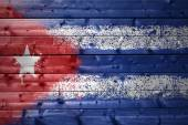 Painted cuban flag on a wooden texture — Stock Photo