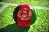 Football ball with the national flag of afghanistan — Stock Photo