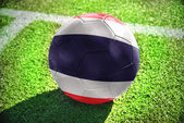 Football ball with the national flag of thailand — Stock Photo