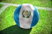Football ball with the national flag of guatemala — Stock Photo