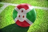 Football ball with the national flag of burundi — Stock Photo