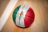 Basketball ball with the national flag of mexico — Stock Photo