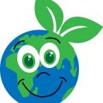 Happy green planet environ — Stock Vector #55184325