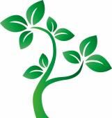 Groene boom environ eco logo 's — Stockvector