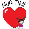 Hug time valentines day or other celebration — Vector de stock  #63223975
