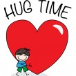 Hug time valentines day or other celebration — Vector de stock  #63223977