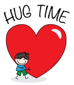 Hug time valentines day or other celebration — Wektor stockowy