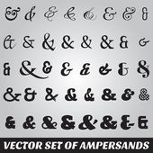 Set of ampersands from different fonts — Stock Vector