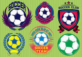 Set of Soccer Football Badge Logo Design Templates — Stock Vector