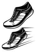 Set of running shoes — Vector de stock