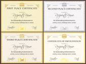 Certificate Set — Stock Vector
