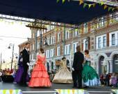 Ballroom dancing at the festival Nizhny Novgorod — Stock Photo